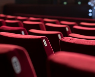 rows of theater chairs