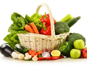 a basket of nutritional items to stay healthy this winter season